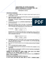 NSEP 2010 2011 Question Paper Solution