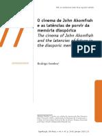O cinema de John Akomfrah e as latências de porvir da memória diaspórica