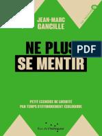 (Les Incisives) Jean-Marc Gancille - Ne plus se mentir – Petit exercice de lucidité par temps d'effondrement écologique-Rue de l'échiquier (2019).epub
