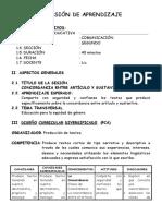 SESIÓN DE APRENDIZAJE - primaria-ARTICULO 2DO