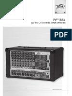 manual mixer peavey pv i8b plus