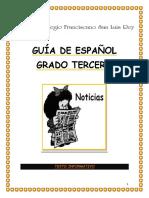 GUÍA DE ESPAÑOL GRADO TERCERO