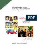 HEROINAS Y HEROES  DE VENEZUELA