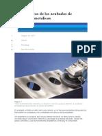 Fundamentos de los acabados de superficies metálicas
