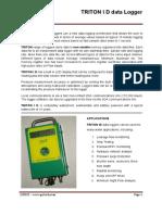 TRID - Display Pressure Flow logger Datasheet GTRI DP