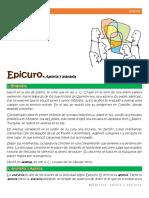 6. Epicuro. Aponia y ataraxia