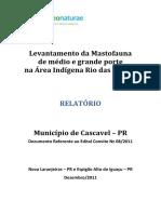 RELATÓRIO Mastofauna Cascavel