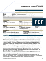 Modelos de Investigación Operativa