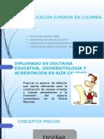 DIPLOMADO EDUCACIÓN SUPERIOR EN COLOMBIA