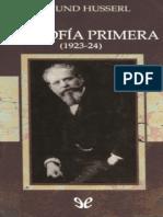 Husserl - Filosofia Primera