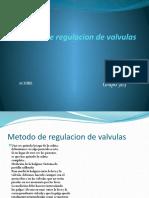 Metodos de regulacion de valvulas