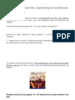 1.- El Proceso de Desarrollo y Aprendizaje de los Alumnos