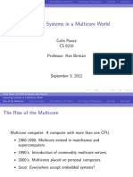 Operating Systems in a Multicore World