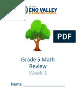 math packet week 1