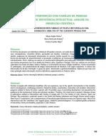 INTERVENÇÕES COM FAMÍLIAS DE PESSOAS COM DEFICIÊNCIA INTELECTUAL- ANÁLISE DA PRODUÇÃO CIENTÍFICA