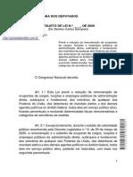 PL Redução de Salários - coronavírus