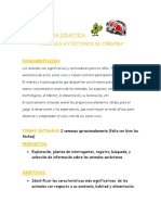 SECUENCIA DIDÁCTICA ANIMALES AUTOCTONOS DE CORDOBA MIMI