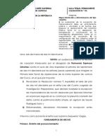 Cas.-10-2018. EXCEPCION DE IMPROCEDENCIA DE ACCION (NO VALORACION DE PRUEBAS)