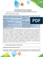 Syllabus Del Curso Principios y Estrategias de Gestión Ambiental