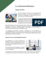 Lectura pedagogia empresarial