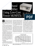 HF Amplifier uisng Low Cost Power Mosfet - irf510