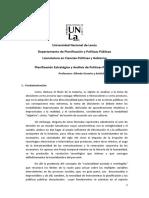 Programa PLANIFICACIÓN ESTRATÉGICA Y ANÁLISIS DE POLÍTICAS PÚBLICAS- OSSORIO