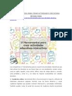 17 HERRAMIENTAS DE AUTOR PARA CREAR ACTIVIDADES INTERANCTIVAS
