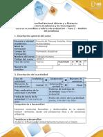 Guía de actividades y Rubrica de evaluación. Fase 2. Análisis del problema