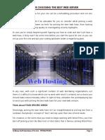 Tips for Choosing the Best Web Server