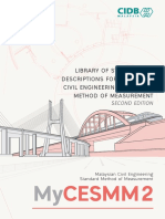 Library of Standard BQ Descriptions for Malaysian Civil Engineering S