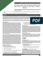 CONSUMERBUYINGBEHAVIORANDBRANDPERCEPTION INSHOPPINGMALLS-ASTUDYOFLULUMALL,COCHIN
