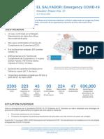 Reporte de Situación COVID-19 El Salvador 21MAR2020