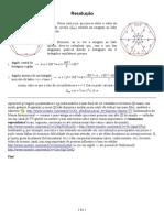 Área de um círculo limitado por uma circunferência circunscrita a um hexágono regular de lado 5 - resposta