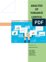 Analysis of Variance (ANOVA) - Group 3 (latest)