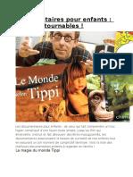 Documentaires Intéressants Pour Les Enfants