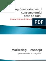 Curs Marketing. Comportamentul consumatorului