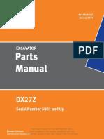 Doosan DX027Z Parts Manual