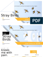 Flying bird collection poetry excerpt selection bold font digital design PPT template.pptx