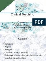 Clinical Teachingx