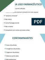Água Uso Farmaceutico