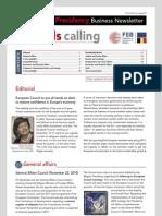 Brussels calling, Belgian EU Presidency, Business Newsletter, 15/12/2010, Issue 8
