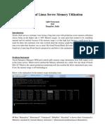 Anatomy Of Linux Server Memory Utilization