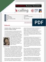 Brussels calling, Belgian EU Presidency, Business Newsletter, 22/11/2010, Issue 7
