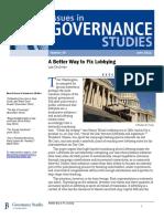 A Better Way to Fix Lobbying