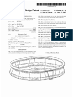 Above-ground swimming pool (US patent D480817)