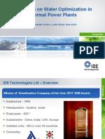 Optimization in thermal power n desal plants
