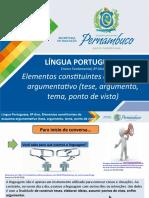 Elementos constituintes do esquema argumentativo (tese, argumento, tema, ponto de vista).ppt