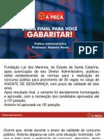 Gabaritando a Peca - Administrativo - Roberto Rosio
