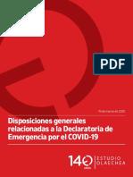 Declaratoria de Emergencia por el COVID-19