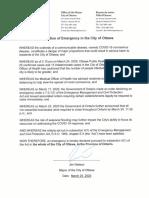 Declaration of Emergency - March 25 2020